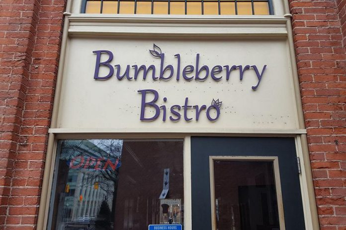 Bumbleberry Bistro is located at 360 George Street North in downtown Peterborough, the former location of Dancing Blueberries (Photo: Bumbleberry Bistro)