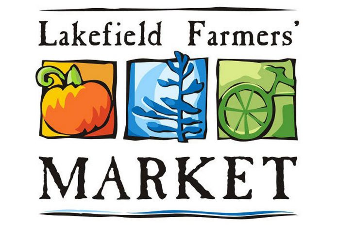 The Lakefield Farmers' Market runs every Thursday until October in the parking lot of the Lakefield-Smith Community Centre, next to Isobel Morris Park.