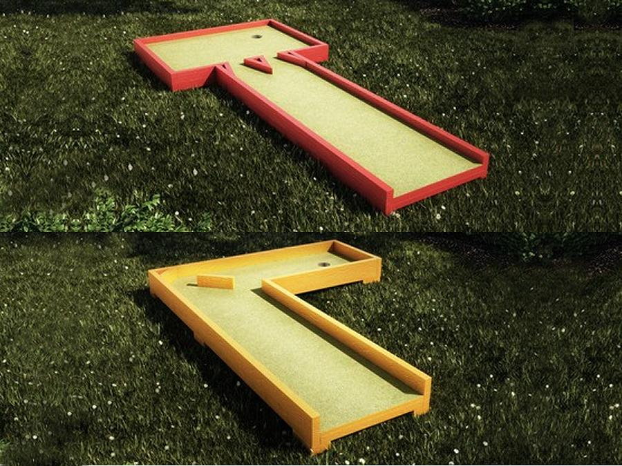 Build your own portable mini golf course: Merrett Home Hardware Building Centre has the plans and materials. (Photo: Home Hardware)