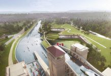 The design of the new Canadian Canoe Museum to be located beside the Peterborough Lift Lock. (Graphic: heneghan peng architects / Kearns Mancini Architects)
