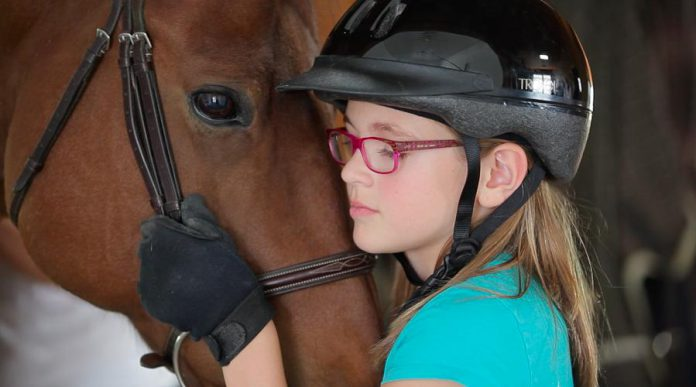 Building a relationship with a horse teaches kids both confidence and empathy. (Photo: Sky Haven Equestrian)