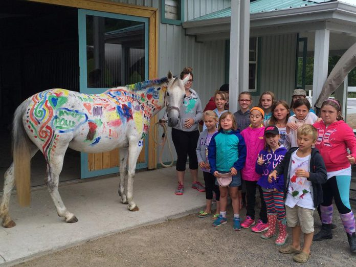 In addition to riding, Sky Haven offers swimming, games, and arts and crafts. (Photo: Sky Haven Equestrian)