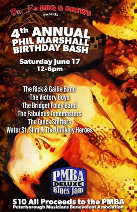 The 4th Annual Phil Marshall Birthday Bash on June 17 features six hours of music by local bands.