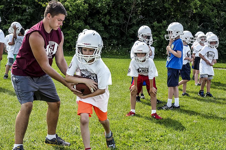 Football Camp allow kids to learn basic football instruction, in both offence and defense,  and strives to help them improve upon their football skills. (Photo: City of Peterborough Recreation Division)