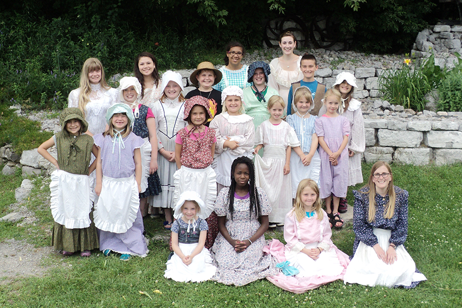 During the week, campers at Kawartha Settlers Village are encouraged to dress in period costume assuming the role of a 19th-century child. (Photo: Kawartha Settlers' Village)