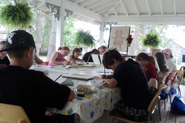 At Art Camp, children practice proper art techniques through the use of paints, pastels, pencils, charcoal, paper mache, and more. (Photo: Kawartha Settlers' Village)