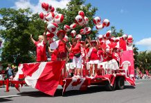 A very Canadian float in the 2010 Peterborough Canada Day Parade. Expect the floats at this year's parade, with the theme of Canada's 150th birthday, to be even more amazing. (Photo: Peterborough Canada Day Parade / Facebook)