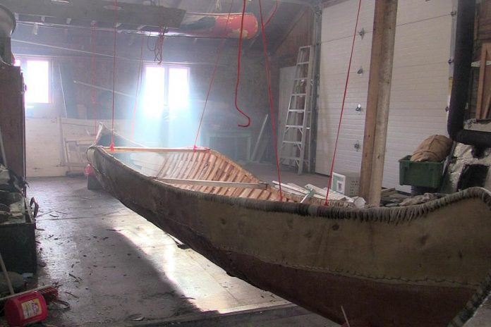 The completed canoe.  (Photo: Miawpukek First Nation)