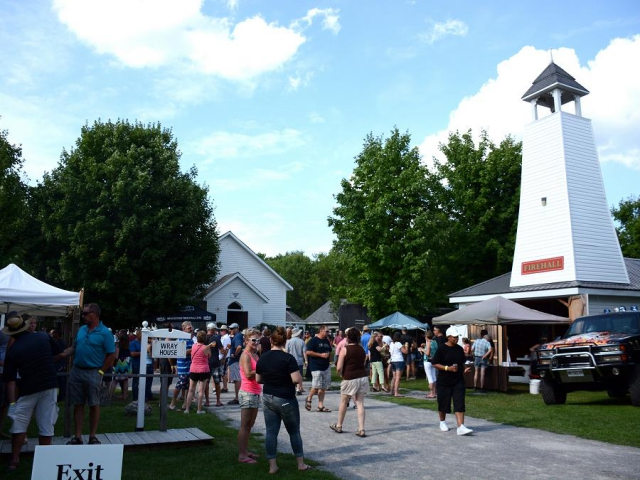 The village comes alive for the Bobcaygeon Craft Beer and Food Festival, held annually in August. (Photo: Eva Fisher / kawarthaNOW)