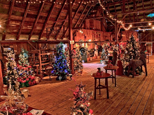 Murphy's Barn will become a Christmas wonderland for this year's 20th Annual Festival of Trees. (Photo: Dennis Turcott)