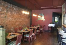The Hunter County Cuisine & Wine Bar, which recently opened in downtown Peterborough, features locally sourced farm-based cuisine.