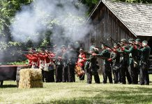During Historic Dominion Day at Lang Pioneer Village Museum in Keene, you can witness a re-enactment of Canadian militia repelling a Fenian raid among other historical activities. (Photo: Dawn Knudsen)