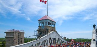 This year's Lock N' Paddle on Saturday, June 24 will attempt fit 300 paddlecraft into the Peterborugh Lift Lock, with 150 in each chamber in honour of Canada 150, far exceeding last year's record of 138. (Photo: The Canadian Canoe Museum)