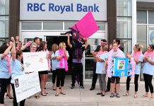 The Dragon Boat team that enjoyed the comforts of the Dragon's Lair last year was the aptly named RBC Queen Bees. They raised $14,135.00 for the Peterborough Regional Health Care Foundation.
