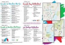 The Canada 150 event map, showing all the celebrations in Peterborough, is available online and in printed form. (Map: Peterborough 150)
