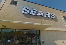 The Sears store at Lansdowne Place in Peterborough.