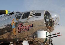 """Sentimental Journey"", a B-17G Flying Fortress bomber, will be at the Peterborough Airport from July 10 to 16 during Flying Fortress Week. Flights on the plane are also available, but they start at $425 US per person ($850 if you want to sit in one of the bombardier seats shown above)."
