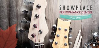 The cover of Showplace Performance Centre's fall 2017 program. The fall schedule features concerts covering a wide range of genres, children's shows, theatrical events, and more. (Design: Amy Leclair)
