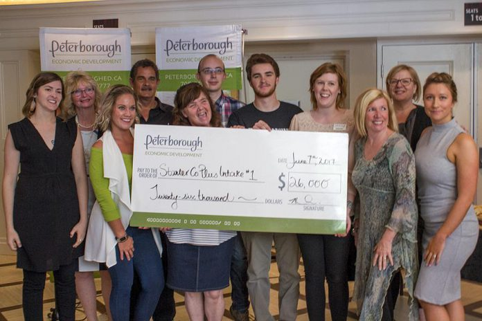 The grant recipients for the first intake of Starter Company Plus, an entrepreneurship program offered through the Peterborough & the Kawarthas Business Advisory Centre, at a showcase event at Showplace Performance Centre in Peterborough on June 7, 2017. The second intake of the program is now under way and closes at the end of June. (Photo: Peterborough & the Kawarthas Economic Development)