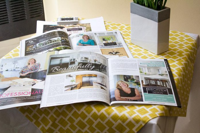 Starter Company Plus participant and grant recipient Nancy Nickle's company Birchview Design offers residential, commercial, and cottage design services.  (Photo: Peterborough & the Kawarthas Economic Development)