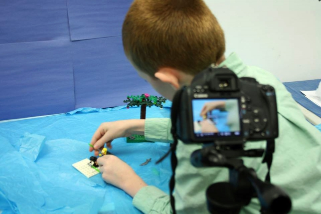 Stop motion animation allows the camper's imagination come to life frame-by-frame. In this week-long camp, children create their own movie. (Photo: Art School of Peterborough)