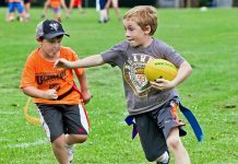 From horseback riding to sports to history, there's no shortage of summer camps in the Kawarthas for every child's interest. Ultimate Sports Camp, offered in partnership with the Peterborough Rugby Club and the City's Recreation Division, introduces campers to non-contact rugby as well as archery, giant-ball soccer, cricket, disc golf, ultimate Frisbee, tennis, Aussie Rules football, and basketball. (Photo: City of Peterborough Recreation Division)