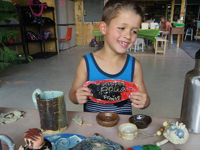 This summer, Kawartha Potters' Guild is offering a Clay and Play camp program for youth, a fun-filled week of clay and exercise activities. Every day, campers will spend some or all of the day creating with clay, guided step-by-step by qualified instructors through the process. (Photo: Kawartha Potters' Guild)