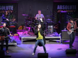 Journey tribute band Absolute Journey performs a free concert at Peterborough Musicfest in Del Crary Park on Saturday, July 22. (Photo: Absolute Journey)