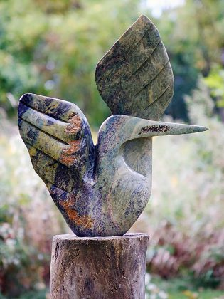 ZimArt is home to 300 hand-carved Zimbabwean stone sculptures, the most comprehensive collection in Canada. Here is a Shona stone sculpture called Song Bird by Rufaro Ngoma. (Photo: ZimArt's Rice Lake Gallery)