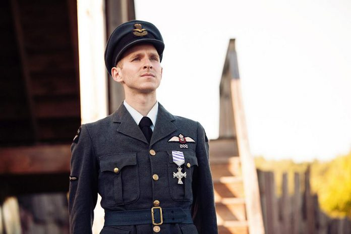 Michael Cox as bomber pilot Sgt. Peter Benton. The show's costumes were designed by Karyn McCallum.  (Photo: Rebekah Littlejohn)
