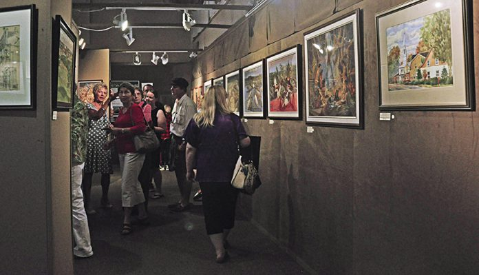 Avid art collectors and festival-goers will have an outstanding variety of fine art to browse and purchase as they walk among the diverse range of works in the indoor and outdoor galleries. (Photo: Buckhorn Fine Art Festival)