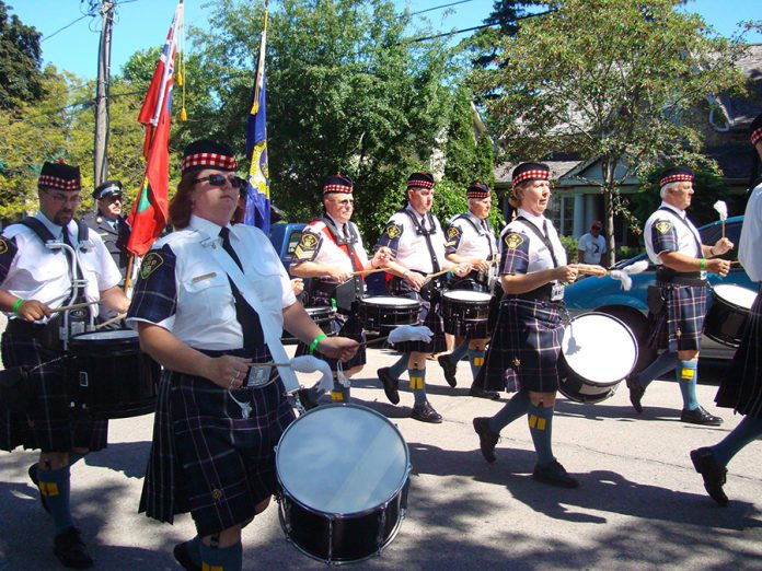 The OPP Commissioner's Own Pipes and Drums will kick off the opening night garden party with a live performance at the Buckhorn Community Centre on Friday, August 18. (Photo: Commissioner's Own Pipes and Drums of the Ontario Provincial Police / Facebook)