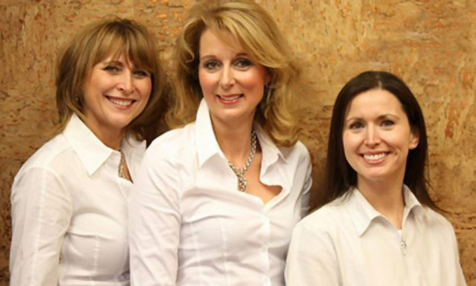 Dr. Verona Sulja (left) and Dr. Koren Bennetts (right) with their friend and colleague, the late Dr. Judith Buys, who died following a tragic accident in August 2016.