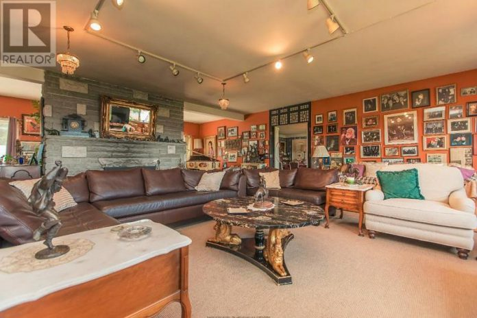 The walls of the main house are lined with a who's who of musical memorabilia. (Photo: Realtor.ca)