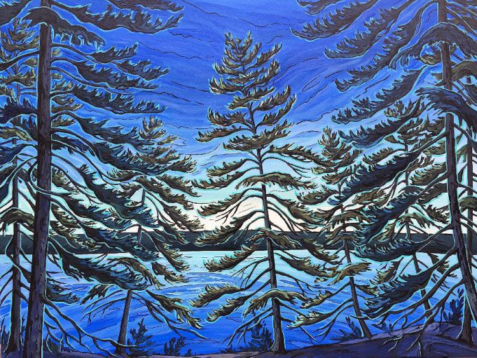 Celebrate Confederation's 150th with an epic show of Canadian art at Gallery on the Lake in Buckhorn (including this piece by Jenny Kastner), read about a local woman who quit her job to buy a winery in the countryside to open Jewel Just Fine Wines in Warsaw, and learn the best tips for buying and selling shoreline property from Lynn Woodcroft of Royal LePage Frank Realty in Buckhorn. (Photo: Gallery on the Lake)