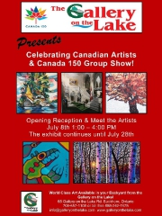 This month the Gallery on the Lake will feature a group show in celebration of Canada's 150th birthday. (Poster: Gallery on the Lake)