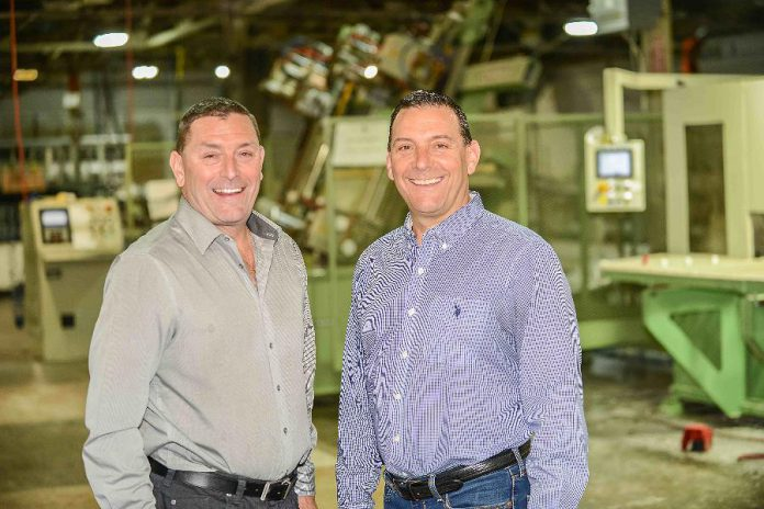 Brothers Bill and Keith Carroll, owners of Lifestyle Home Products, at their 150,000-square-foot sunroom, window, and door manufacturing facility on Crawford Drive in Peterborough.  All Lifestyle sunrooms are 100% Canadian-made in Peterborough.  (Photo: Lifestyle Home Products)