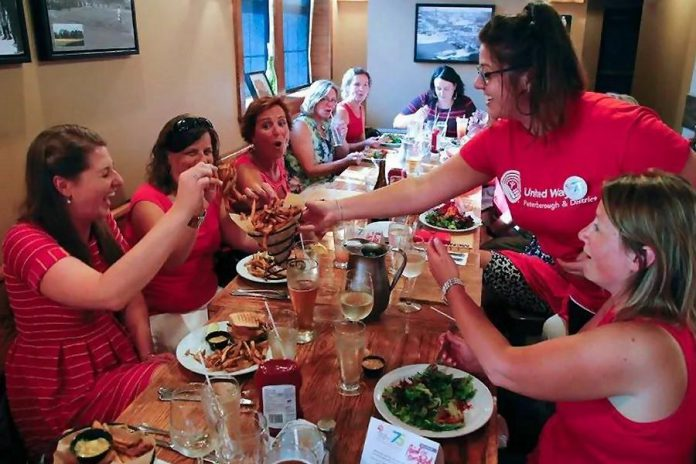 Enjoy a meal out on Wednesday, July 19 and support the United Way by visiting one of the 32 Peterborough restaurants participating in Paint the Town Red. (Photo: United Way of Peterborough and District)
