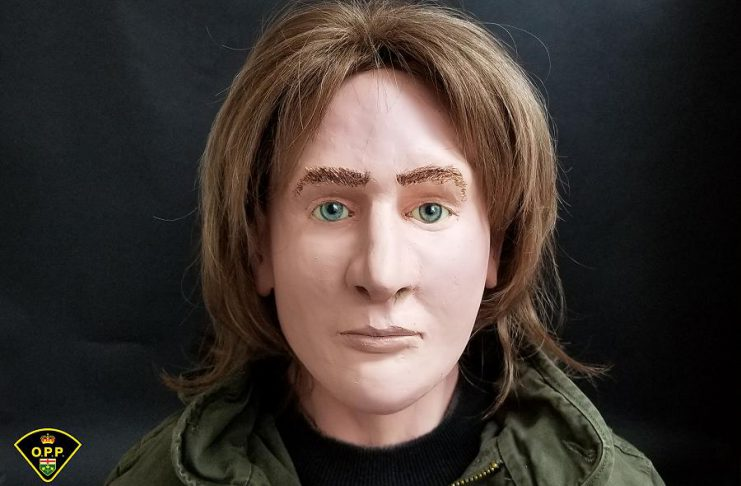 At a news conference today, the OPP in partnership with the Ontario Forensic Pathology Service and the Office of the Chief Coroner unveiled a three-dimensional model of what is believed to be a young male, whose remains were discovered by a hiker in Algonquin Park in 1980. (Photo: OPP)