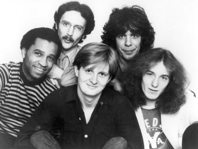 Tom Cochrane with Red Rider in the 1980s. (Photo: Denise Grant / Capitol Records)