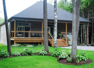 This 3,800-square-foot property at 250 Riverside Drive is steps to Pigeon Lake, a popular destination for cottagers.