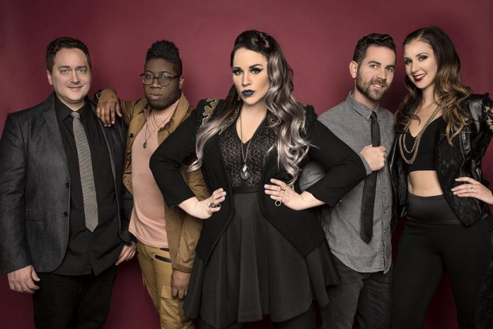 Eh440 (Joe Oliva, Tafari Anthony, Stacey Kay, Luke Stapleton, and Janet Turner) bring their incredible a acapella pop sound to Peterborough Musicfest on Saturday, August 5. (Publicity phot)