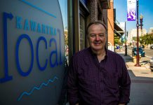 Rob Howard, owner of Kawartha Local, at his new downtown Peterborough storefront called Kawartha Local Marketplace.