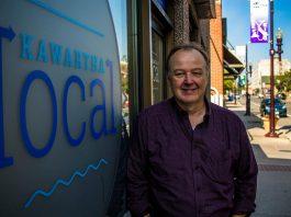 Rob Howard, owner of Kawartha Local, at his new downtown Peterborough storefront called Kawartha Local Marketplace.