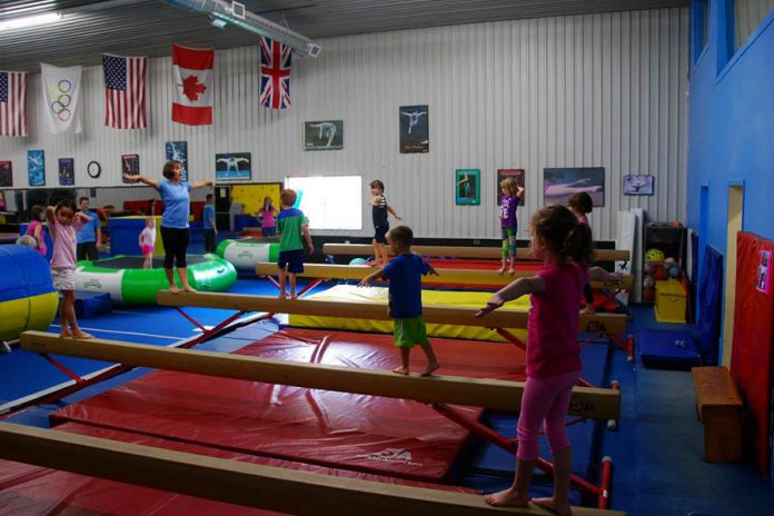 This fall, Champions Gymnastics in Peterborough continues its tradition of offering recreational programs for kids and youth. Gymnastics is one of the best activities for contributing to the overall development of a child as it provides the foundation for participation and success in all other athletic activities. (Photo courtesy of Champions Gymnastics)