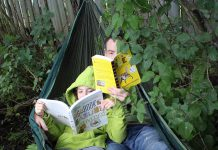 Along with every relaxing afternoon in a hammock, comes a book. This summer, spend some quality outdoor time at the cottage, beach, or in the backyard with a green-themed book such as The Big Book of Nature Activities by Drew Monkman and Jacob Rodenburg or Keeping the Bees by Laurence Packer. (Photo: Karen Halley)