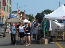 The annual Lakefield Sidewalk Sale takes place on Saturday, August 12 on Queen Street, featuring local vendors and merchants with great deals and items for sale.