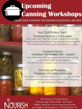 Following the pickling workshop, Nourish will present workshops on salsa making and on canning pumpkin. (Image: Nourish Project)