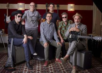 More than 10 years after their farewell show at Toronto's Massey Hall, Rheostatics (Martin Tielli, Hugh Marsh, Dave Clark, Tim Vesely, Kevin Hearn, and Dave Bidini) have reunited and are performing a free concert at Peterborough Musicfest on August 23. (Publicity photo)