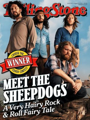 The Sheepdogs on the cover of the August 18, 2011 issue of Rolling Stone.